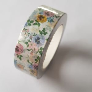 🆕 NEW Multicolored Flowers Washi Tape 15mmx10m